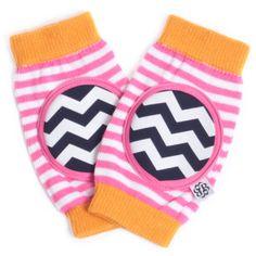 Orangesicle ZigZag Happy Knees Crawling Knee Pads. #laylagrayce #new #kids