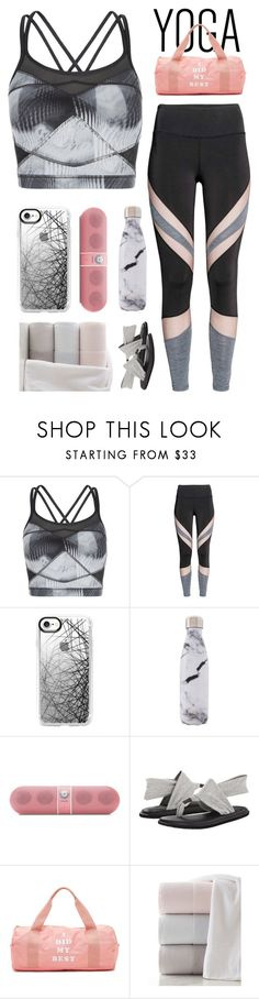 """""""Time to do Yoga !"""" by verenagyuneth ❤ liked on Polyvore featuring Sweaty Betty, Casetify, West Elm, Beats by Dr. Dre, sanuk, ban.do, Kassatex and yoga"""