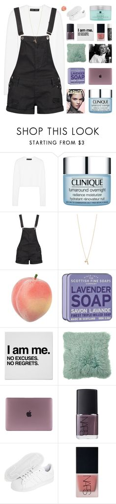"""""""fear leads to anxiety"""" by peachy-clean ❤ liked on Polyvore featuring Proenza Schouler, Clinique, Boohoo, Minor Obsessions, Chapstick, NARS Cosmetics, adidas Originals and Temple Spa"""