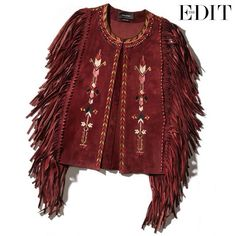 Embroidered jacket with fringe sleeves, courtesy of Net-a-Porter.