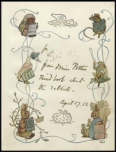 A note from Miss Potter