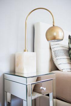 Arteriors Jana lamp from AllModern and mirrored nightstand