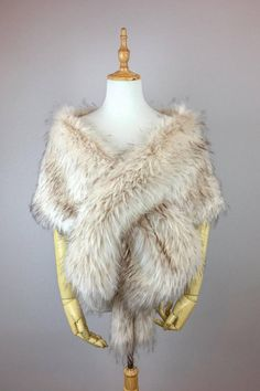 Pink Blush / Light Brown faux fur bridal wrap Wedding Fur