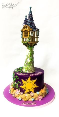 Rapunzel Birthday Cake! Call or email to book your rapunzel themed birthday cake...