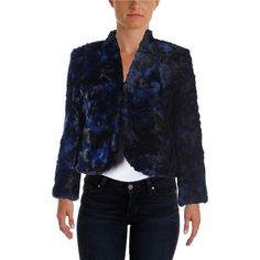 CeCe by Cynthia Steffe Womens Faux Fur Printed Jacket