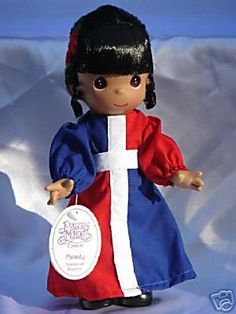 Precious Moments Dominican Republic Doll new Precious Moments Figurines, Dolls For Sale, Collector Dolls, Dominican Republic, Make You Smile, Horror, In This Moment, Make It Yourself, Christmas Ornaments