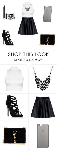 """Untitled #81"" by maca-janevska ❤ liked on Polyvore featuring WearAll, Alexa Starr, Carvela Kurt Geiger, MSGM, Yves Saint Laurent, Native Union and Chanel"