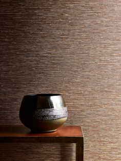 Zander wallpaper in copper by Jane Churchill
