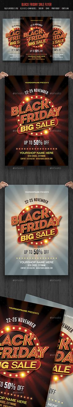 Black Friday Sale Flyer  — PSD Template #discount #black friday poster • Download ➝ https://graphicriver.net/item/black-friday-sale-flyer/18384368?ref=pxcr