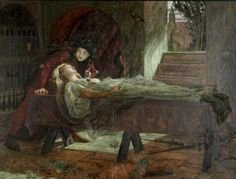 The Tomb Scene from Shakespeare's 'Romeo and Juliet' (Act V: sc.3) by Lucy Madox Brown, 1870