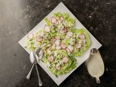 Crunchy Iceberg Salad with Creamy Blue Cheese