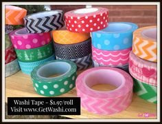 Washi Tape at Great Prices – GetWashi.com - $1.97 / roll