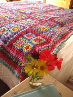 Another colourful crochet rug. I reckon I could get the hang of that...