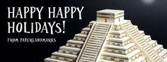 Happy Happy Holidays! From Paperlandmarks.com