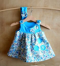 SET Baby girl Cotton Dress with hairband flower baby by PABUITA click here to buy: https://www.etsy.com/listing/452519938/set-baby-girl-cotton-dress-with-hairband?ref=pr_shop