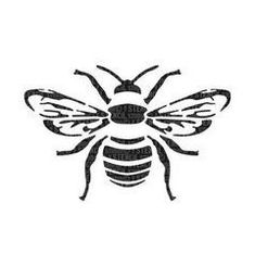 Vogel Silhouette, Bee Silhouette, Bee Stencil, Stencil Art, Spray Paint Stencils, Stenciling, Stencil Patterns, Stencil Designs, Bee Outline