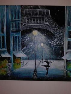 Eiffeltover #paris #akryl #balerina  #atnight