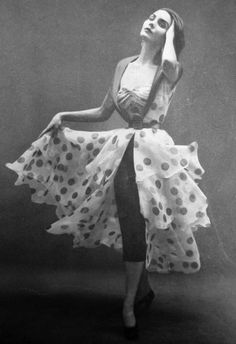 Vintage Polka Dot Dress.