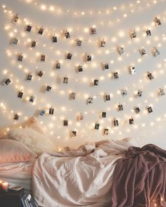 ✧ pinterest ⇢ emmaberi ✧ // string light polariods