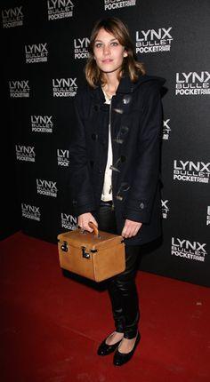 Alexa Chung in a Duffle Coat