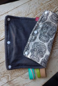 Sugar skull drool pads calavera made to order by LollyBirds