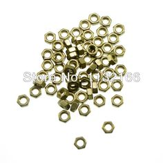 Pack of 50 Metric Thread M2.5 Brass Hex Nuts Freeship To Worldwide
