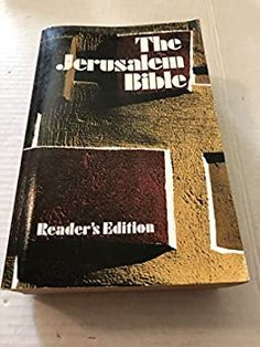 When it comes to Bible translations, readability and reliability are what count; and on both counts, the original JERUSALEM BIBLE stands alone. A product of the age of the Second Vatican Council (1962-1965), THE JERUSALEM BIBLE (published in 1966) was the first truly modern Bible for Catholics. Using definitive original language texts such as the Dead Sea Scrolls, biblical scholars of L'Ecole Biblique in Jerusalem produced a meticulously accurate, wonderfully readable French translation of th... Jerusalem Bible, Dead Sea Scrolls, Bible Stand, Bible Translations, Vatican, Texts, Count, Language, Things To Come