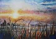 The Oregon Coast at Sunset Watercolor on handmade paper x inches Mary Johnson, Watercolor Sunset, Canvas Prints, Framed Prints, Oregon Coast, Mother Nature, Watercolors, Tapestry, Paper