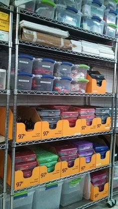 An organized art room makes Mrs. Edwards happy! I have 12 art tables and each bin contains 12 pencil boxes with various supplies from crayons to Sharpies etc. All easily accessible to students. Art Teacher Jennifer Lipsey Edwards.