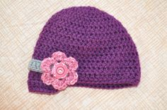 Newborn Girl Hat by BellaHenryBoutique on Etsy, $20.00