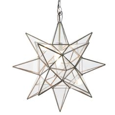 See the stars. // Enjoy the magic on cloudy days, too, with our @Worlds Away Star Chandeliers.