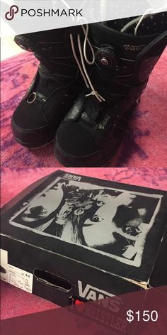 Vans Snowboarding Boa Encore Boots Size 9 NIB I'll ship with box. Worn handful of times one year only. Tightens with pull cord technology. Beautiful boots. Small heart design in lining. Very warm. Perfect gift  vans snowboarding women's boots size 9 Vans Shoes Winter & Rain Boots