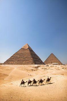 The Egyptian pyramids of the Giza Necropolis