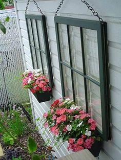 Cute idea put old windows to use!