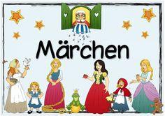"""Plakat """"Märchen""""   Nachdem mehrfach nachgefragt wurde, habe ich nun das Englischplakat zu """"fairy tales"""" auchmit einemdeutschen Schriftzug..."""