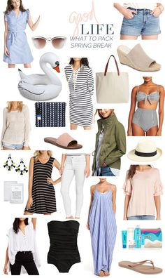 350a99ea7db3 what to pack  spring break! (The Good Life For Less). Weekend Getaway  OutfitsVacation ...
