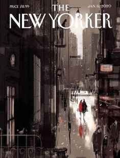 The New Yorker January artist: Pascal Campion The New Yorker, New Yorker Covers, Pascal Campion, Matte Painting, Storyboard, Twilight, Art Editor, Ville New York, City Drawing