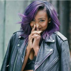 Bold Hair Wine Fine Dark Chick @justineskye ~» #WineFineDarkChicks #WineFine #Blackisbeautiful #Blackbeauty #Purplehair #Purple #JustineSkye #Coloredhair #Lipstick  #Smile #Queen #Blackqueens #Brownskin #Darkskingirls #DarkSkinnedBeauty #Darkskinnedwomen #Darkgirls #Brownskingirls #Fashion #BlackFashion #Pretty #Glowingskin #Brownbeauties  #Gorgeous #Makeup #BrownLipstick #Melanin #Fleek