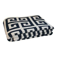 I pinned this Happy Habitat Greek Key Throw in Marine from the Seeing a Pattern: Greek Key event at Joss and Main!