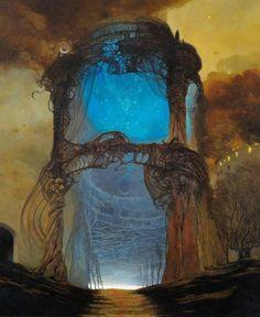 Dark Souls Art, Dark Art, Baroque, Surrealism Painting, Sombre, Lowbrow Art, Environment Concept Art, Horror Art, Surreal Art