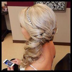 elegant side hair do