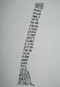 Shel Silverstein embroidery. So cool. by Lily Vanilli. [via Craft, via Geek Crafts.]
