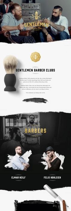 Gentlemen Barber Clubs (More web design inspiration at topdesigninspiration.com)…