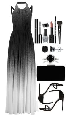 """Untitled #3416"" by natalyasidunova ❤ liked on Polyvore featuring Elie Saab, John Lewis, Emitations, BERRICLE, Chanel, OPI, NARS Cosmetics, Bare Escentuals, Lancôme and NYX"