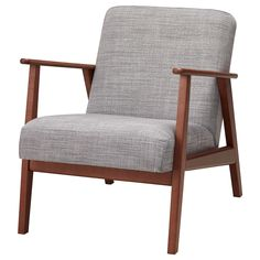 IKEA EKENÄSET armchair The cover is easy to keep clean as it is removable and can Living Room Seating, Living Room Sets, Ikea Armchair, Ikea Home, Fabric Armchairs, Grey Chair, Sims 4 Mods, Sofa Design, Ideas
