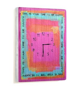 """This is Your Time 14""""x20"""" Unique Wall Clock by Artist Lisa Weedn by ArteHouse, http://www.amazon.com/dp/B00C6V31V6/ref=cm_sw_r_pi_dp_qATMrb0Z64RTP"""