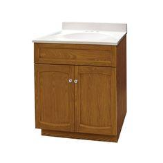 Foremost Heartland 24-in. Single Bathroom Vanity with Optional Medicine Cabinet - Oak - FGI274-2