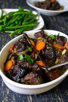 Slow Cooked Port and Vanilla Beef Cheeks | http://eatdrinkpaleo.com.au/slow-cooked-beef-cheeks-with-port-and-vanilla/