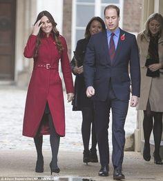 The Duke and Duchess of Cambridge travelled from Kensington palace to High Street Kensington this morning