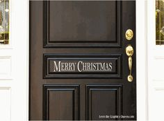 Merry Christmas Wall or Door Decal $10